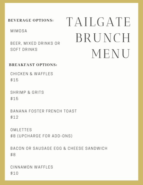 BRUNCH MENU 414